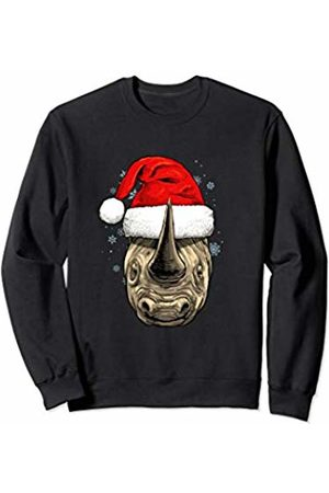 Wowsome! Rhinoceros Christmas Santa Hat Xmas Gifts Kids Boys Girls Sweatshirt