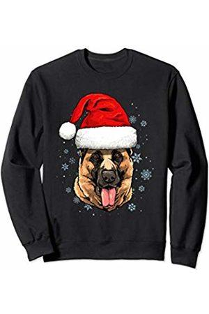 Wowsome! German Shepherd Santa Hat Christmas Boys Girls Xmas Gift Sweatshirt