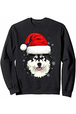 Wowsome! Alaskan Malamute Santa Hat Christmas Boys Girls Xmas Gift Sweatshirt