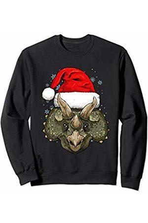 Wowsome! Triceratops Dinosaur Christmas Santa Hat Xmas Gifts Boy Girl Sweatshirt