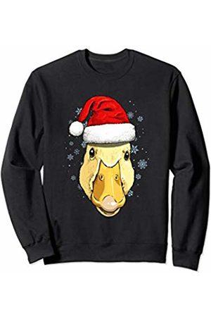 Wowsome! Duck Christmas Santa Hat Xmas Gifts Kids Boys Girls Sweatshirt