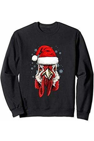 Wowsome! Chicken Christmas Santa Hat Xmas Gifts Kids Boys Girls Sweatshirt