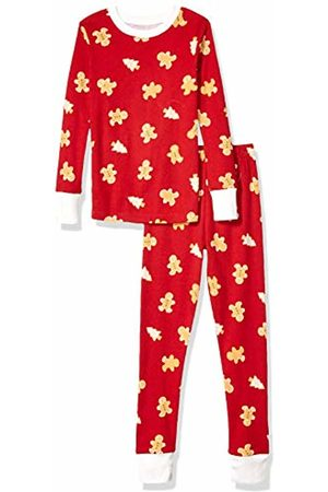 Amazon Long-sleeve Tight-fit 2-piece Pajama Set Gingerbread