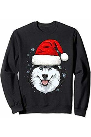Wowsome! Siberian Husky Santa Hat Christmas Boys Girls Xmas Gift Sweatshirt