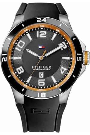 Tommy Hilfiger Blake Men's Quartz Watch with Dial Analogue Display and Rubber Strap 1790861