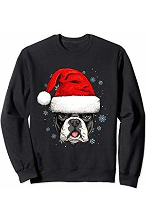 Wowsome! French Bulldog Santa Hat Christmas Boys Girls Xmas Gift Sweatshirt