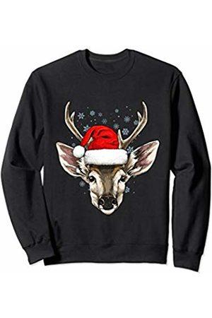 Wowsome! Deer Christmas Santa Hat Xmas Gifts Kids Boys Girls Sweatshirt
