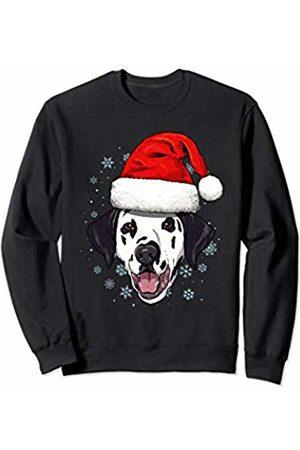 Wowsome! Dalmatian Santa Hat Christmas Boys Girls Xmas Gift Sweatshirt