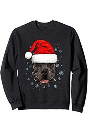Wowsome! Pit Bull Santa Hat Christmas Boys Girls Xmas Gift Sweatshirt
