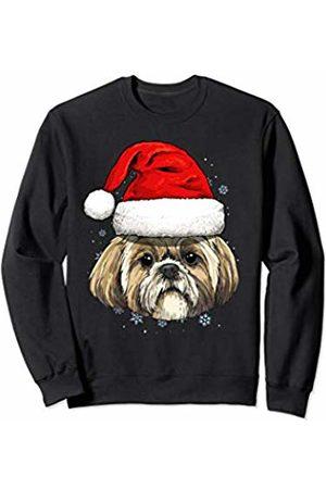 Wowsome! Shih Tzu Santa Hat Christmas Boys Girls Xmas Gift Sweatshirt