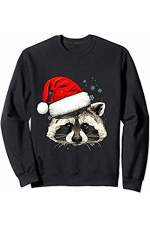 Wowsome! Raccoon Christmas Santa Hat Xmas Gifts Kids Boys Girls Sweatshirt