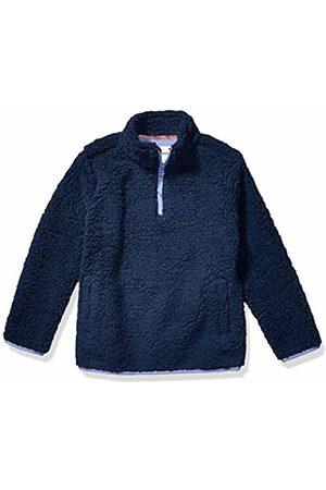 Amazon Quarter-zip High-pile Polar Fleece Jacket Washed Navy