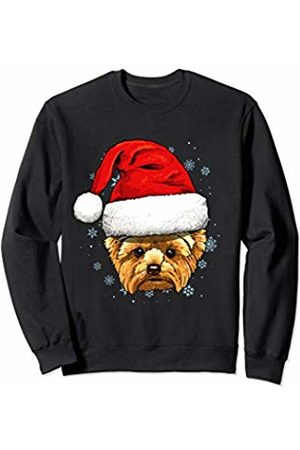 Wowsome! Yorkshire Terrier Santa Hat Christmas Boys Girls Xmas Gift Sweatshirt