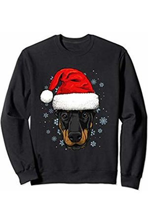 Wowsome! Dobermann Santa Hat Christmas Boys Girls Xmas Gift Sweatshirt