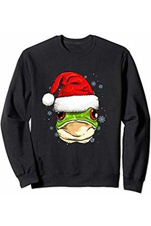 Wowsome! Frog Christmas Santa Hat Xmas Gifts Kids Boys Girls Sweatshirt