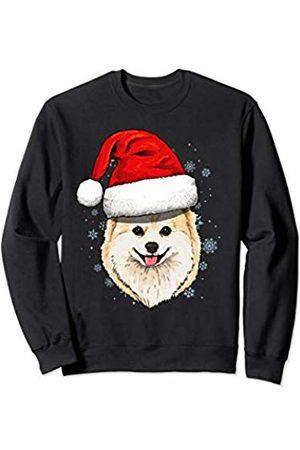 Wowsome! Pomeranian Santa Hat Christmas Boys Girls Xmas Gift Sweatshirt