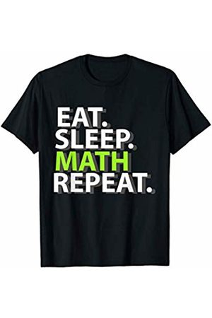 My Shirt Hub Math Teacher Student Gift Eat Sleep Math Repeat T-Shirt