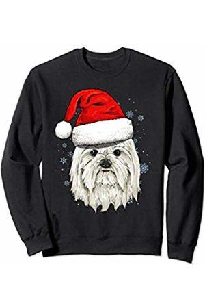 Wowsome! Maltese Santa Hat Christmas Boys Girls Xmas Gift Sweatshirt