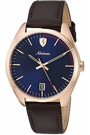 Scuderia Ferrari Unisex-Adult Analogue Classic Quartz Watch with Leather Strap 0830500