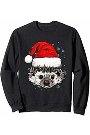 Wowsome! Hedgehog Christmas Santa Hat Xmas Gifts Kids Boys Girls Sweatshirt