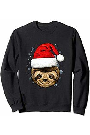Wowsome! Sloth Christmas Santa Hat Xmas Gifts Kids Boys Girls Sweatshirt