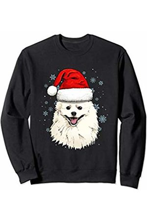 Wowsome! American Eskimo Santa Hat Christmas Boys Girls Xmas Gift Sweatshirt