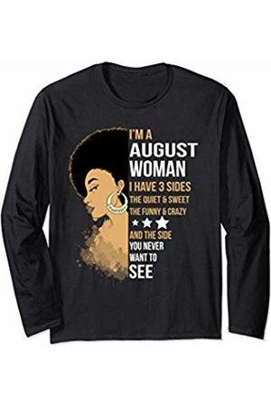 Womans I'm August Woman I Have 3 Sides Tshirt Cute Womans I'm August Woman I Have 3 Sides Long Sleeve T-Shirt