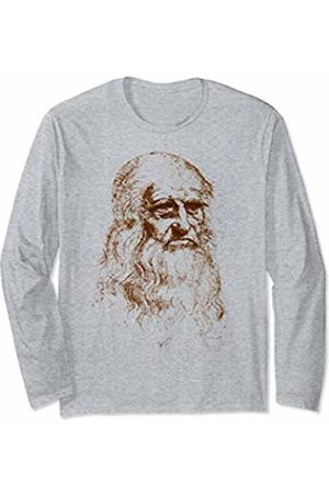 Leonardo da Vinci portrait Author of The Vitruvian Man Long Sleeve T-Shirt