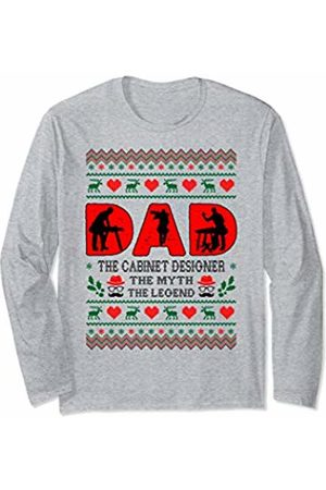 Rinabatu Designs Dad Man The Myth The Legend Cabinet Designer Christmas Gift Long Sleeve T-Shirt