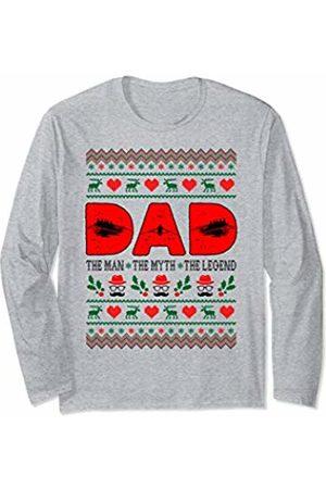 Rinabatu Designs Dad The Man The Myth The Legend Rowing Christmas Gift Long Sleeve T-Shirt