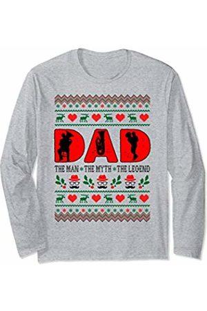 Rinabatu Designs Dad The Man The Myth The Legend Tuba Christmas Gift Long Sleeve T-Shirt