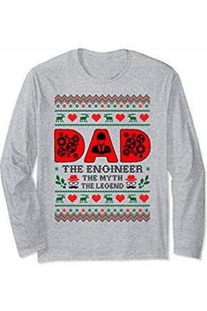 Rinabatu Designs Dad The Man The Myth The Legend Engineer Christmas Gift Long Sleeve T-Shirt