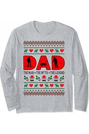 Rinabatu Designs Dad The Man The Myth The Legend Skiing Christmas Gift Long Sleeve T-Shirt