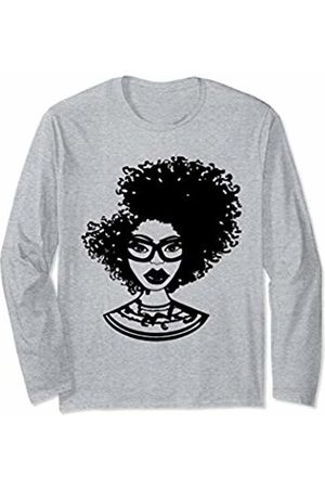 Naturally Defined Kinky Curly Hair Tees Natural Hair for Black Women Defined Afro Design 1 Long Sleeve T-Shirt
