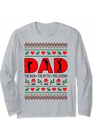 Rinabatu Designs Dad The Man The Myth The Legend Golfing Christmas Gift Long Sleeve T-Shirt