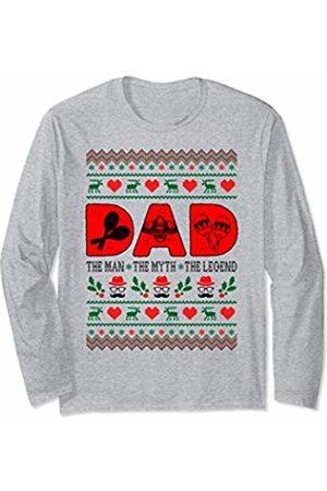 Rinabatu Designs Dad The Man The Myth The Legend Maracas Christmas Gift Long Sleeve T-Shirt
