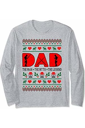 Rinabatu Designs Dad The Man The Myth The Legend Bassoon Christmas Gift Long Sleeve T-Shirt