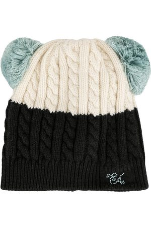 Emporio Armani Girls Beanies - Pompom knit beanie