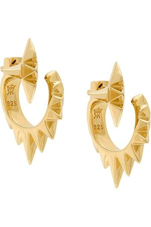 KASUN LONDON Vortex earrings - Metallic