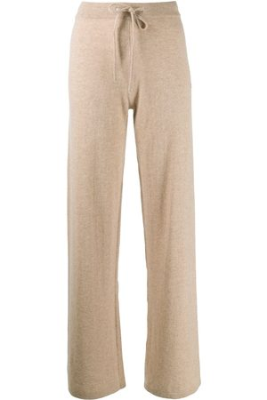 Chinti and Parker Women Wide Leg Trousers - Wide-leg cashmere track pants - Neutrals