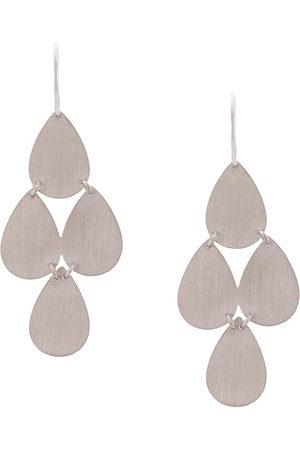 Irene Neuwirth 18kt gold four drop chandelier earrings