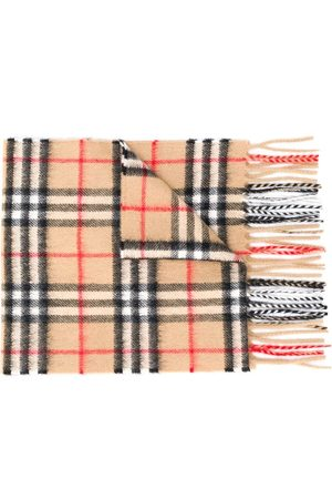 Burberry Signature check knit scarf - NEUTRALS