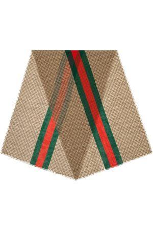 Gucci Monogram print scarf - Neutrals