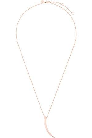 SHAUN LEANE Women Necklaces - Tusk pave diamond pendant necklace