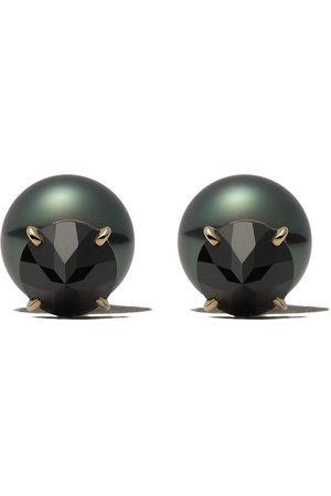 Tasaki 18kt refined rebellion black spinel earrings