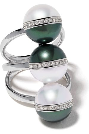 Tasaki 18kt Balance Unite diamond and South Sea pearl ring