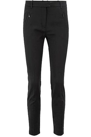 HUGO BOSS Slim-fit trousers with zipped hems