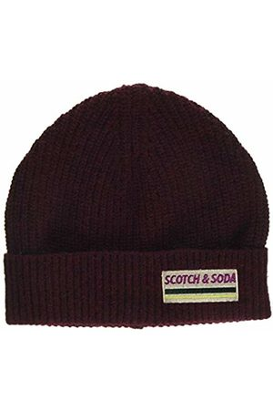 Scotch&Soda Men's Rib Knit Beanie in Soft Wool-Blend Baseball Cap