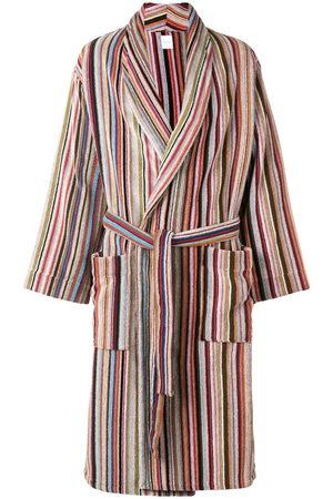 PAUL SMITH Striped belted bathrobe