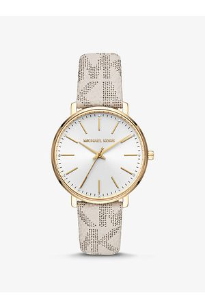 Michael Kors Watches - MK Pyper Logo and Gold-Tone Watch - Vanilla